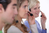 Hotline workers. — Stock Photo