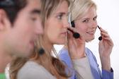 Hotline workers. — Stock Photo