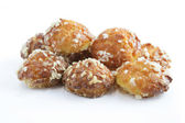 Sugar coated choux pastries — Stock Photo