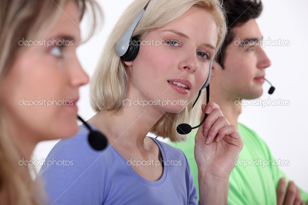 Call center staff — Stock Photo #11032185