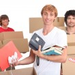 Three housemates moving out — Stock Photo #11040565