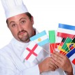 World cuisine chef — Stock Photo #11042062