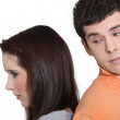 Young couple having argument — Stock Photo