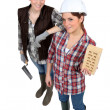 Team of tradeswomen — Stock Photo #11044113