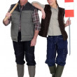 Father and daughter construction team — Stock Photo #11048212