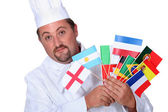 World cuisine chef — Stock Photo