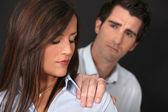 Couple ayant un désaccord — Photo