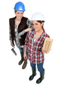 A team of tradeswomen — Stock Photo