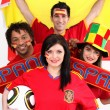 Stock Photo: Passionate Spain supporters