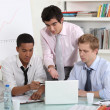 Young business professionals working on a project together — Stock Photo #11055945