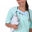 Nurse smiling — Stock Photo