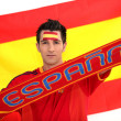 Spanish football supporter — Stock Photo #11057674