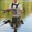 Fisherman in a river — Stock Photo #11058291