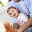 Stock Photo: Young father with daughter