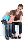 Comforting little girl — Stock Photo