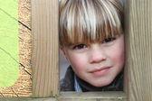 Little boy in a park — Stock Photo