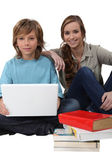Young with a laptop computer — Foto Stock