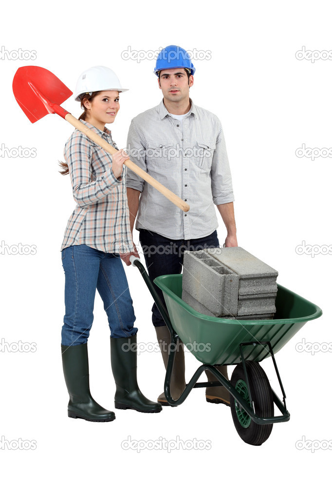 A couple of construction workers. — Stock Photo #11056580