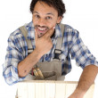 Stock Photo: Portrait of carpenter