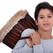 Boy with a bongo — Stockfoto