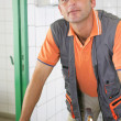 An experienced tradesman — Foto Stock