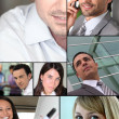 Business montage — Stock Photo