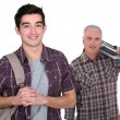 Stock Photo: Teenage boy starting apprenticeship
