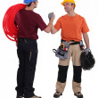 Electrician and plumber — Stock Photo #11066206