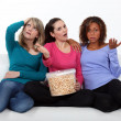 Women disappointed by end of movie — Stock Photo #11066215