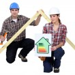 Stock Photo: Energy saving in construction industry