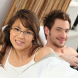 Couple waking up — Stock Photo #11067848
