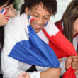 French supporters — Stock Photo