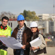 Construction crew working on site — Stock Photo #11069120