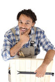 Portrait of a carpenter — Stock Photo