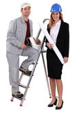 Painter and an architect working together — Stock Photo