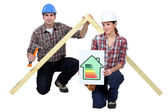 Energy saving in construction industry — Stock Photo