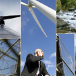 Montage of wind-farm — Stock Photo