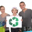Family waste sorting — Stock Photo #11072918