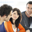 Informal discussion group at work - Stock Photo