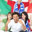 Italian soccer supporters — Stock Photo