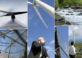Montage of wind-farm — Stock Photo