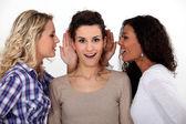 Women gossiping — Stock Photo