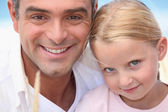 Portrait of father and daughter — Stock Photo