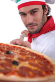 Pizza chef — Stockfoto