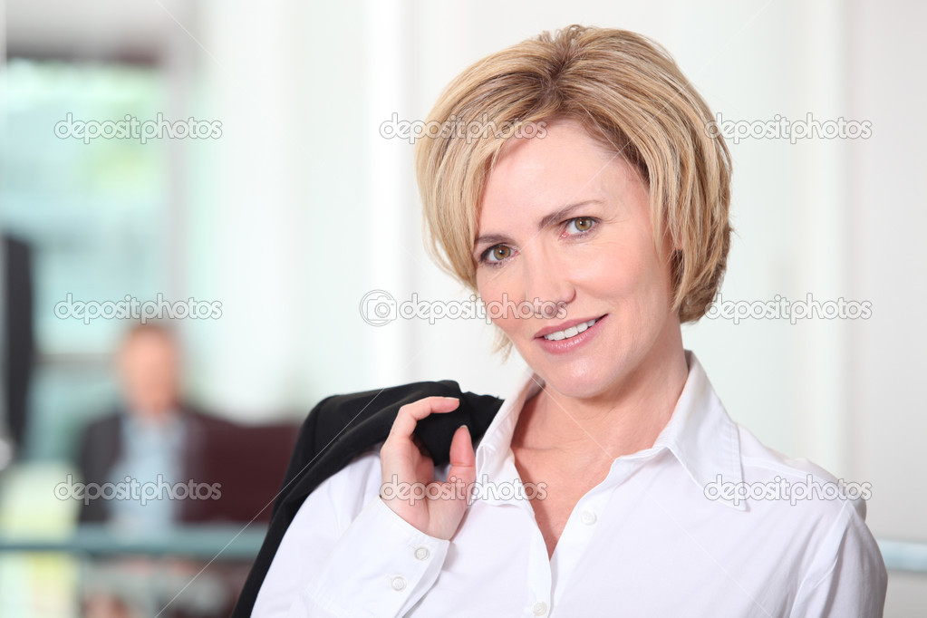 Portrait of a blonde-haired businesswoman — Stock Photo #11071500