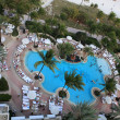 Stock Photo: High-angle shot of resort swimming pool