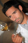 Man tasting wine — Stock Photo