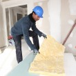 Construction worker with wall insulation — Stock Photo #11360505