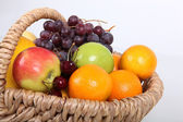 Basket of fresh fruit — Stock Photo
