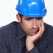 Upset handyman — Stock Photo #11444535